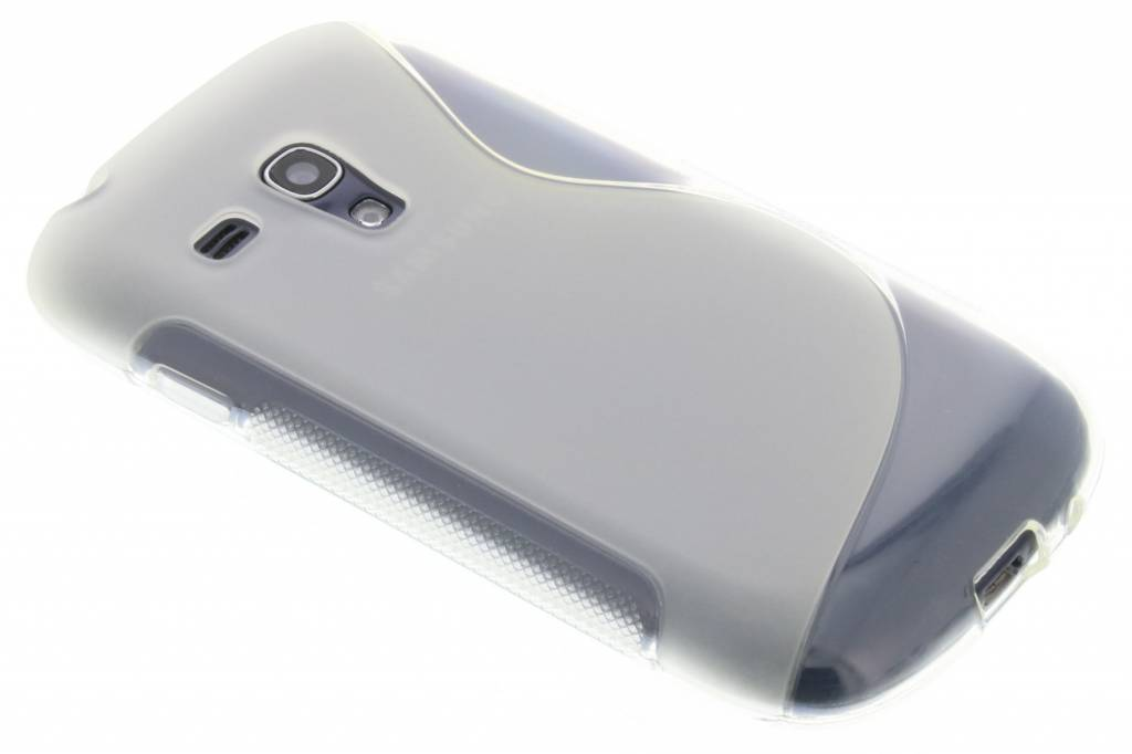 Transparant S-line flexibel TPU hoesje voor Samsung Galaxy S3 Mini i8190