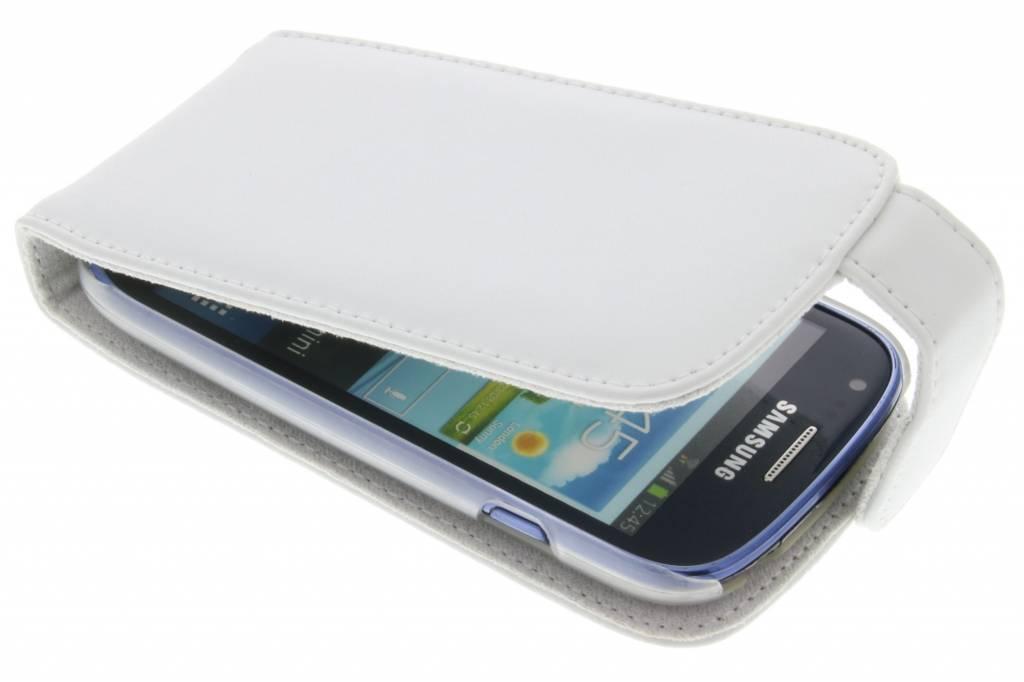 Witte stijlvolle flipcase voor Samsung Galaxy S3 Mini
