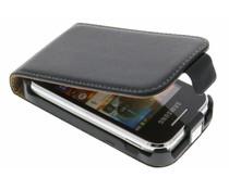 Zwart luxe flipcase Samsung Galaxy Y