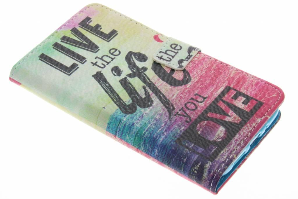 Live the life design TPU booktype hoes voor de LG G5 (SE)