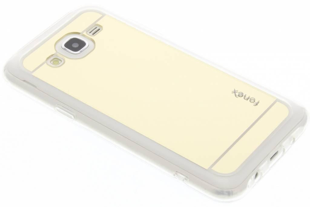 Fonex Mirror Vanity TPU Case voor de Samsung Galaxy J5 - Goud