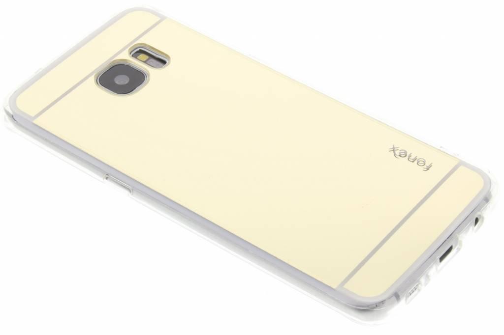 Fonex Mirror Vanity TPU Case voor de Samsung Galaxy S7 Edge - Goud