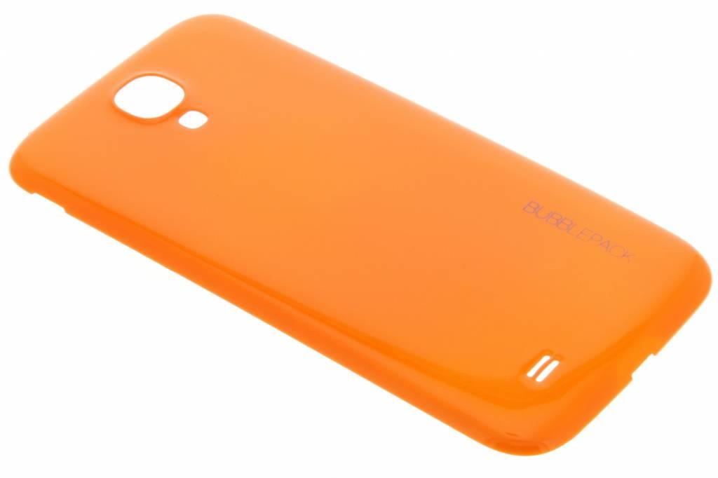 Oranje bubblepack batterij cover voor de Samsung Galaxy S4