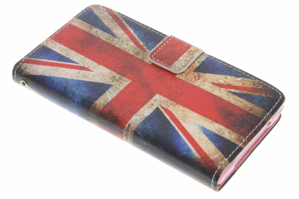 Britse vlag design TPU booktype hoes voor de Sony Xperia Z1