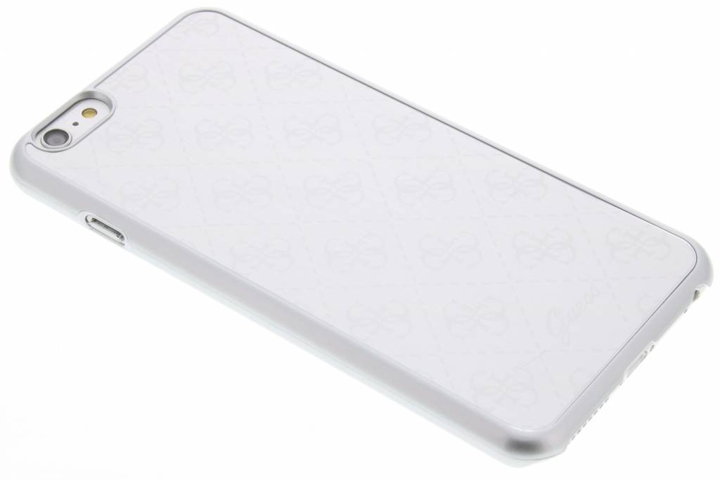 Guess Aluminium Plate Hard Case voor de iPhone 6(s) Plus - Silver