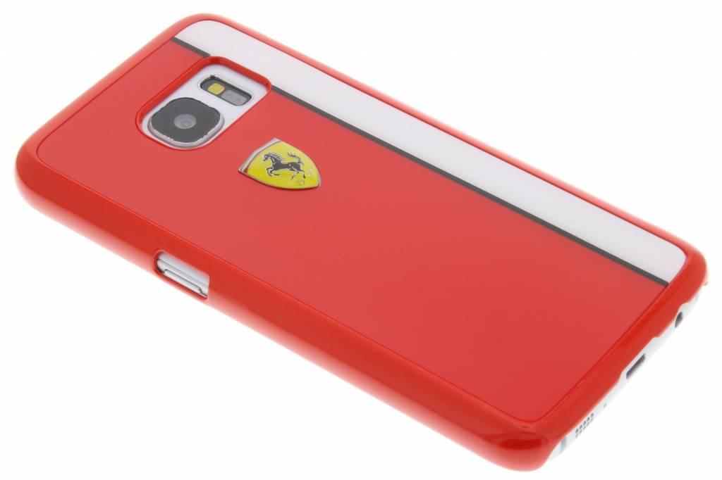 Ferrari Paddock Hard Case voor de Samsung Galaxy S7 - Rood / Wit