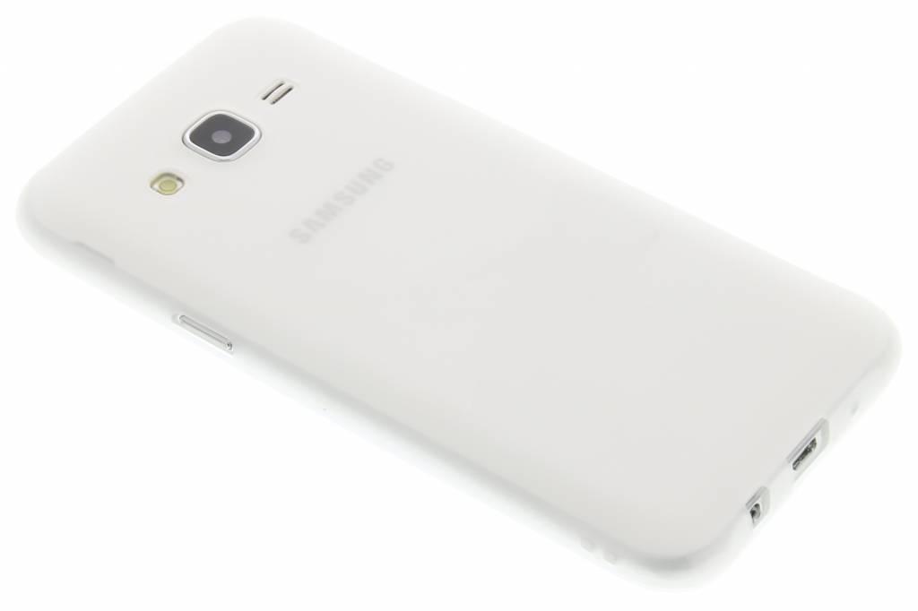 Wit Color TPU hoesje voor de Samsung Galaxy J5
