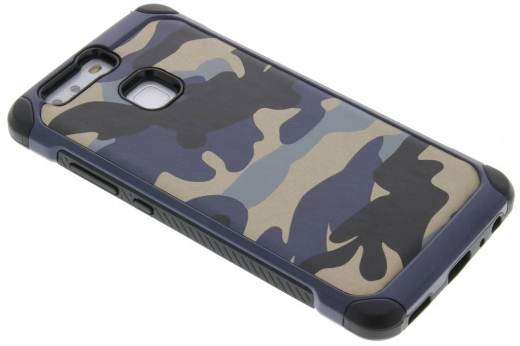 Blauw army defender hardcase hoesje voor de Huawei P9
