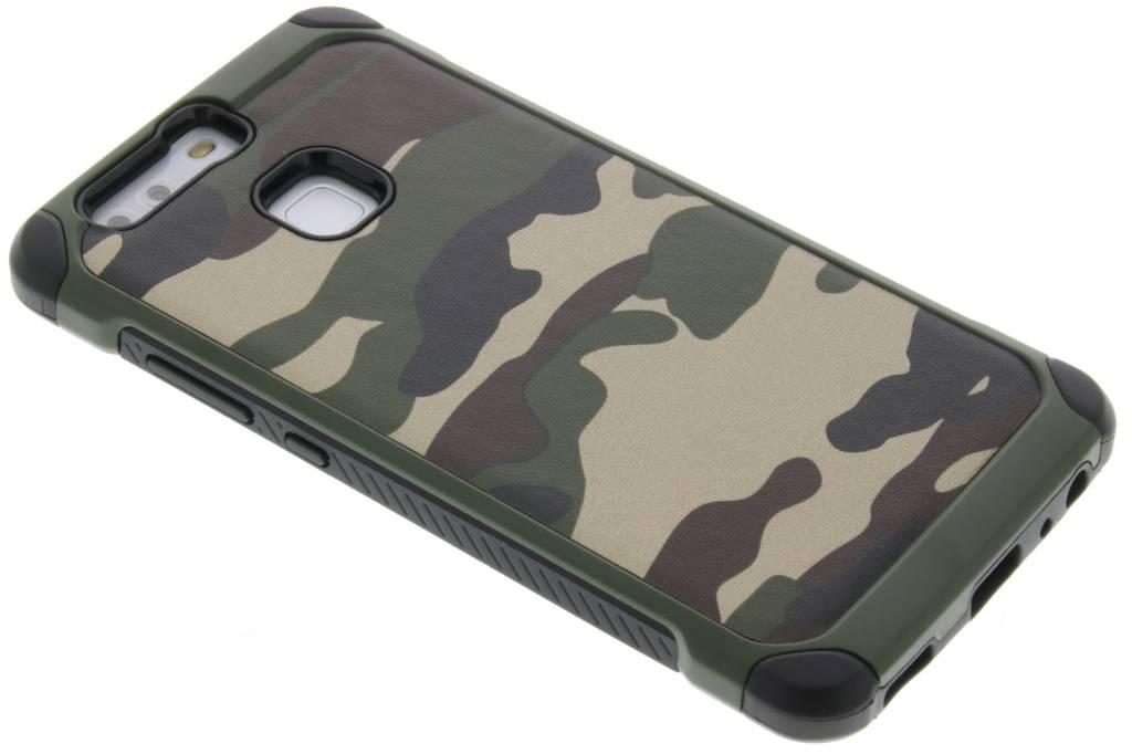 Groen army defender hardcase hoesje voor de Huawei P9