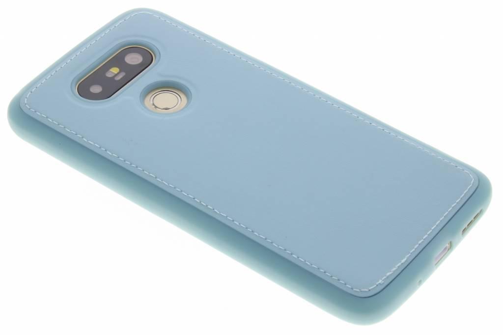 Blauwe lederen TPU case voor de LG G5 (SE)