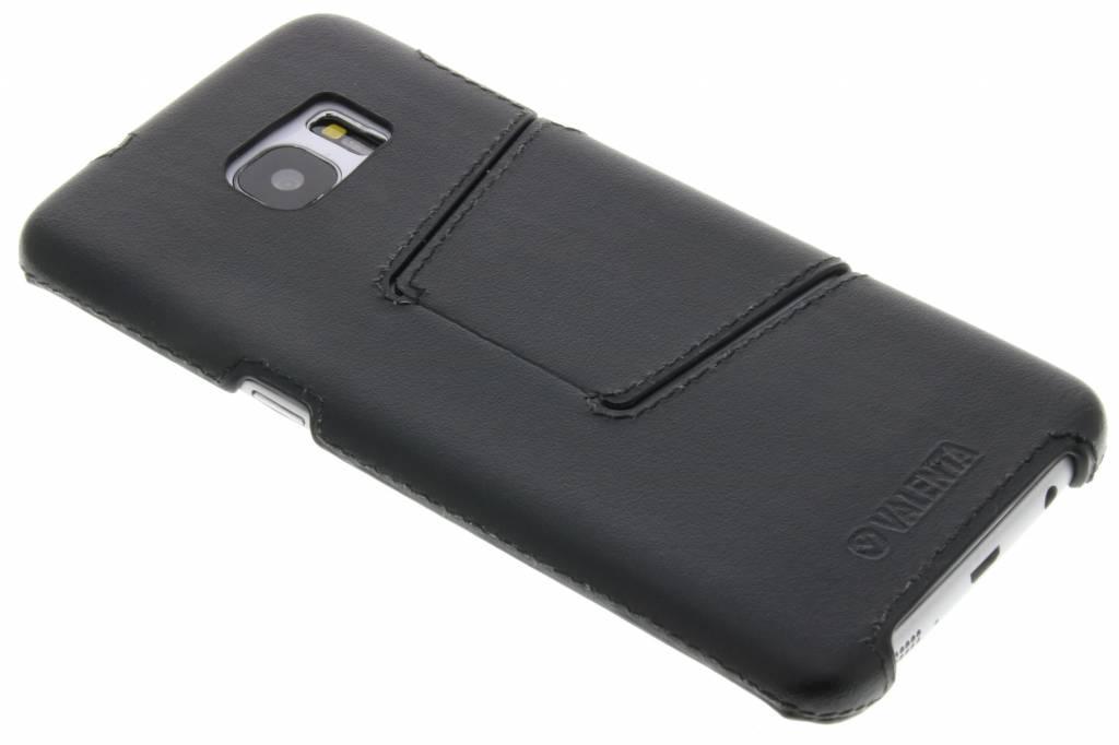 Valenta Back Cover Classic Style voor de Samsung Galaxy S7 Edge - Zwart