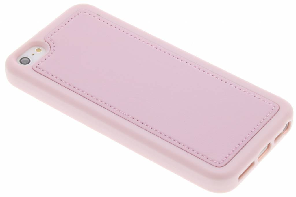 Roze lederen TPU case voor de iPhone 5 / 5s / SE
