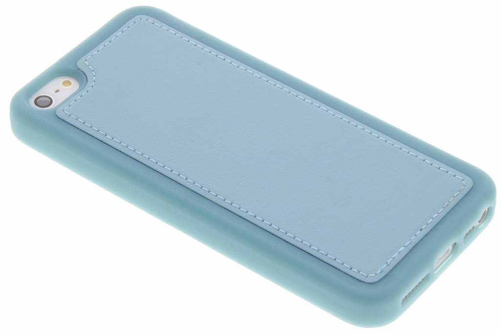 Blauwe lederen TPU case voor de iPhone 5 / 5s / SE