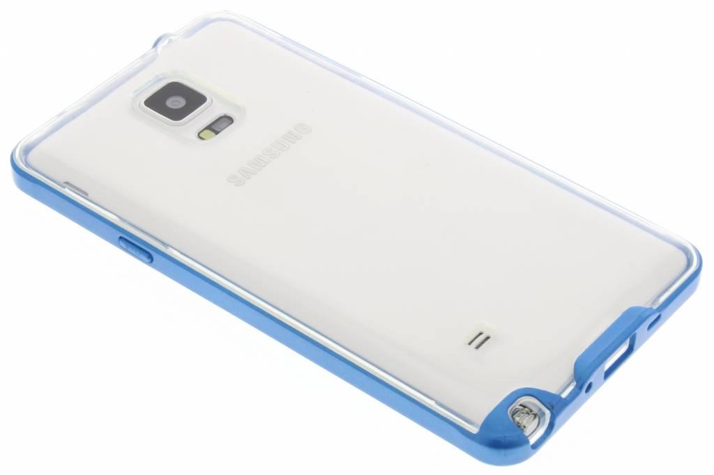 Blauwe bumper TPU case voor de Samsung Galaxy Note 4