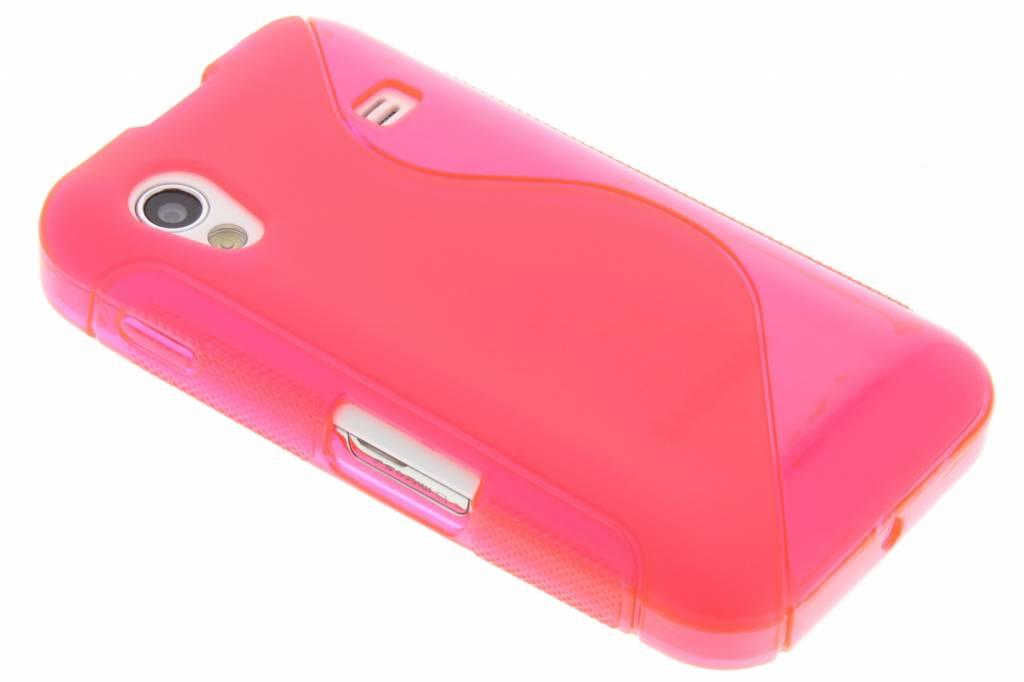 Rosé flexibele S-lineTPU hoes voor de Samsung Galaxy Ace S5830