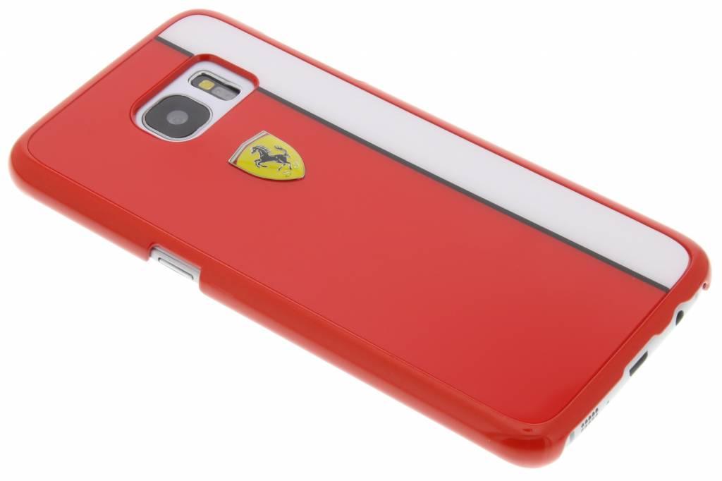 Ferrari Paddock Hard Case voor de Samsung Galaxy S7 Edge - Rood / Wit
