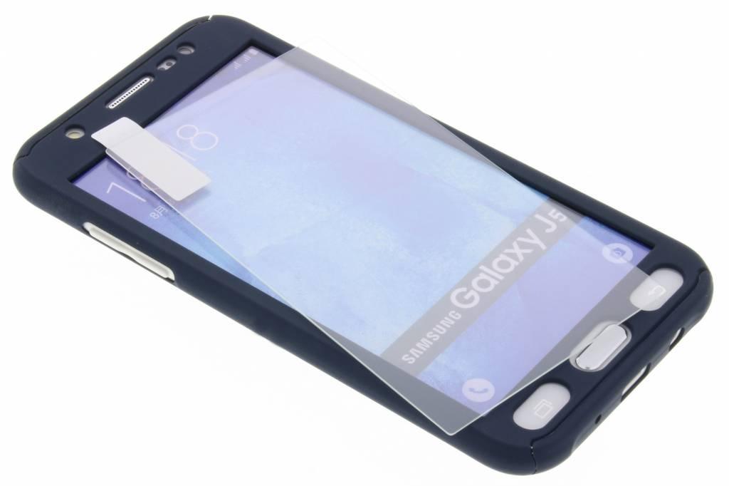 Donkerblauwe 360° effen protect case voor de Samsung Galaxy J5
