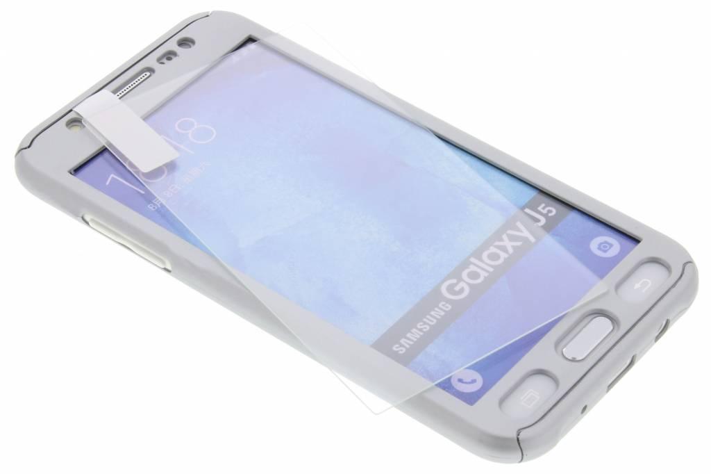 Zilveren 360° effen protect case voor de Samsung Galaxy J5