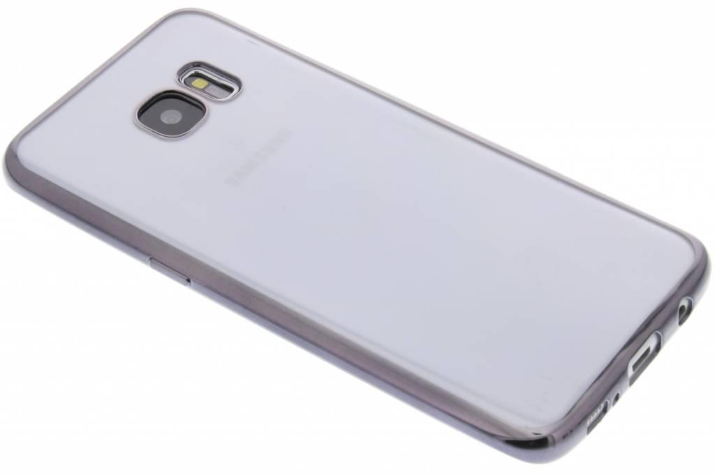 Fonex Sparkling Soft Case voor de Samsung Galaxy S7 Edge - Zwart