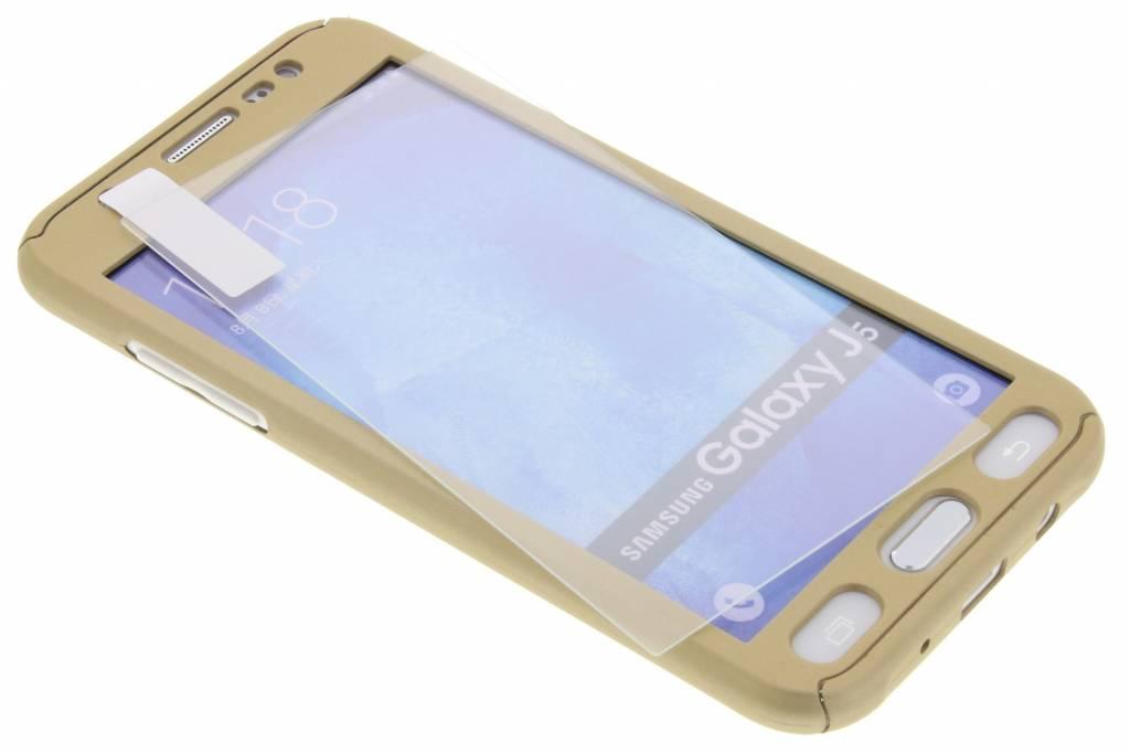 Gouden 360° effen protect case voor de Samsung Galaxy J5