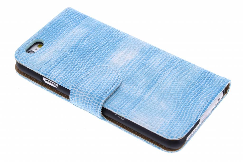 Blauwe hagedis design booktype hoes voor de iPhone 6(s) Plus