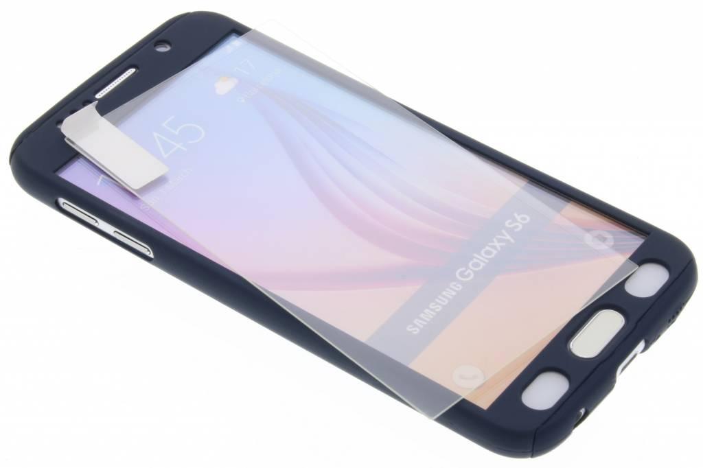 Donkerblauwe 360° effen protect case voor de Samsung Galaxy S6