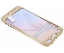 Goud 360° effen protect case Galaxy S6