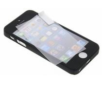 Zwart 360° effen protect case iPhone 5 / 5s / SE