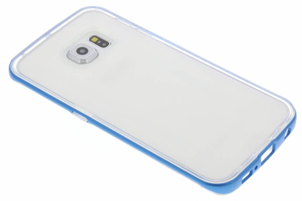 Blauwe bumper TPU case voor de Samsung Galaxy S6 Edge