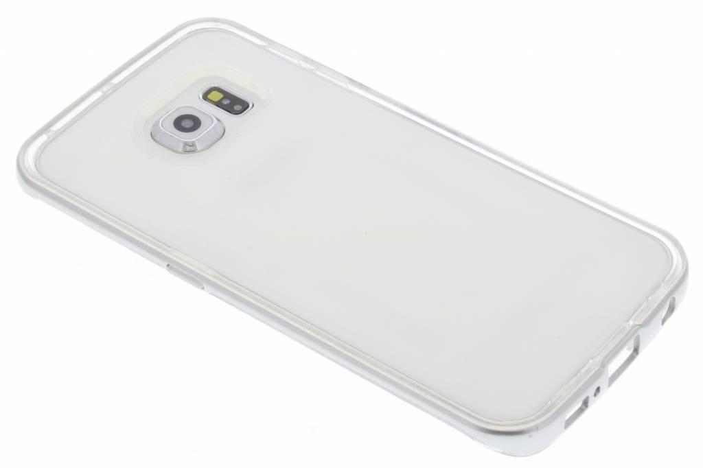 Zilveren bumper TPU case voor de Samsung Galaxy S6 Edge