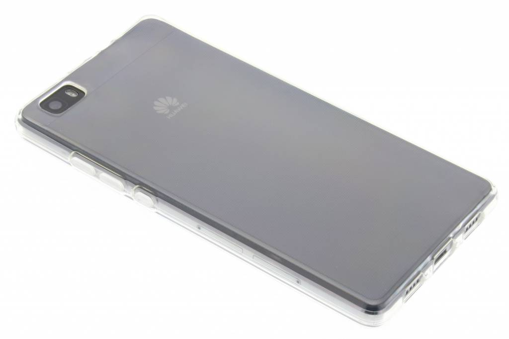Image of TPU Clear Cover + Glass Protector voor de Huawei P8 Lite