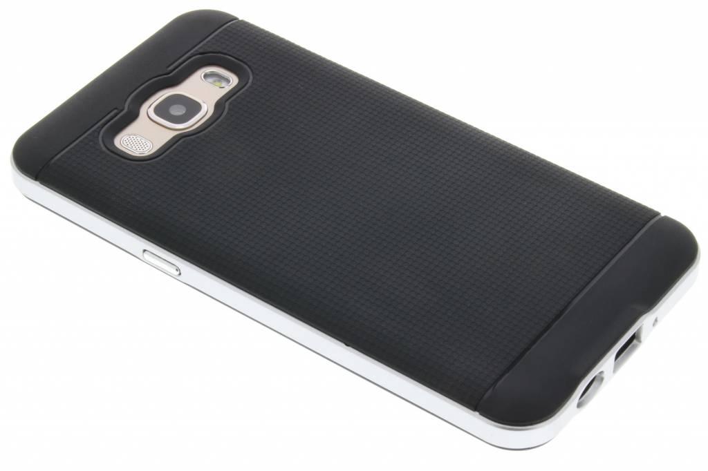 Zilveren TPU protect case voor de Samsung Galaxy J5 (2016)
