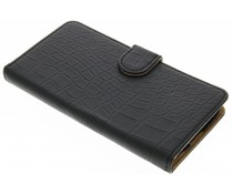 Zwart krokodil booktype hoes LG K8