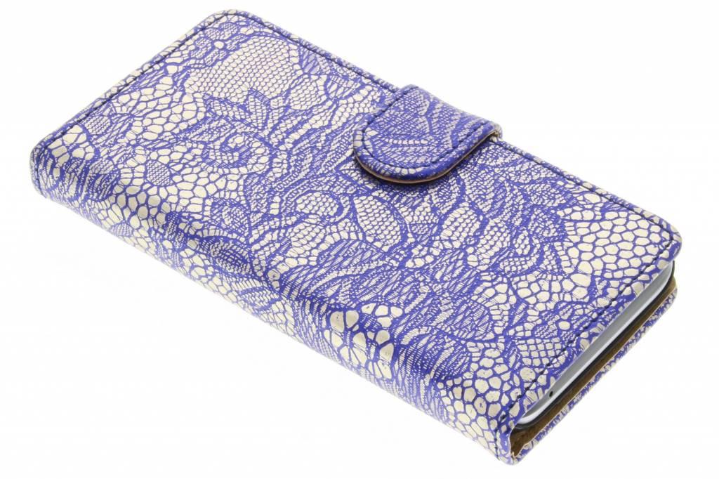 Blauwe glamour design booktype hoes voor de Huawei Y5