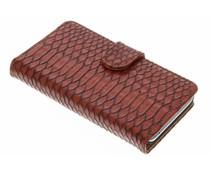 Rood slangen booktype hoes Huawei Y5