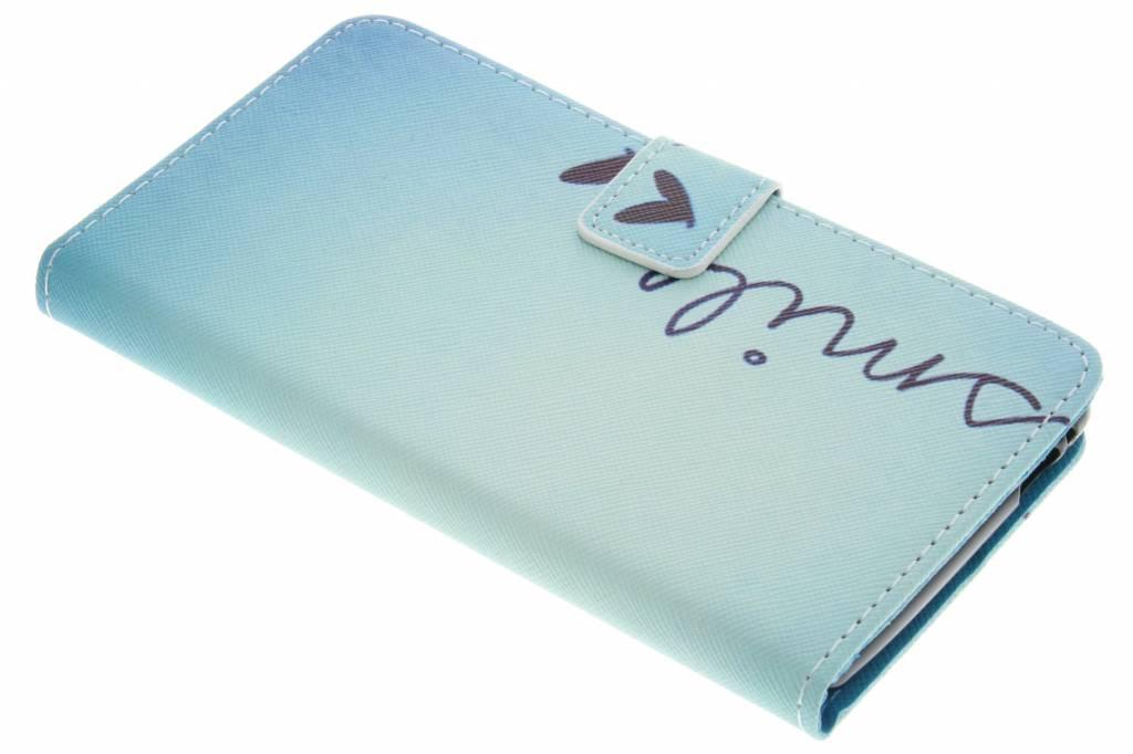 Smile design TPU booktype hoes voor de Wiko Pulp 4G