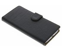 Zwart krokodil booktype hoes HTC 10