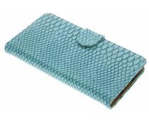 Turquoise slangen booktype hoes LG K10