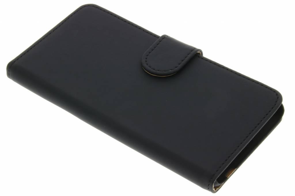 Zwarte effen booktype hoes voor de LG X Screen