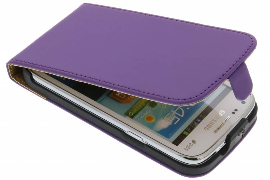 Paarse luxe flipcase voor Samsung Galaxy Core