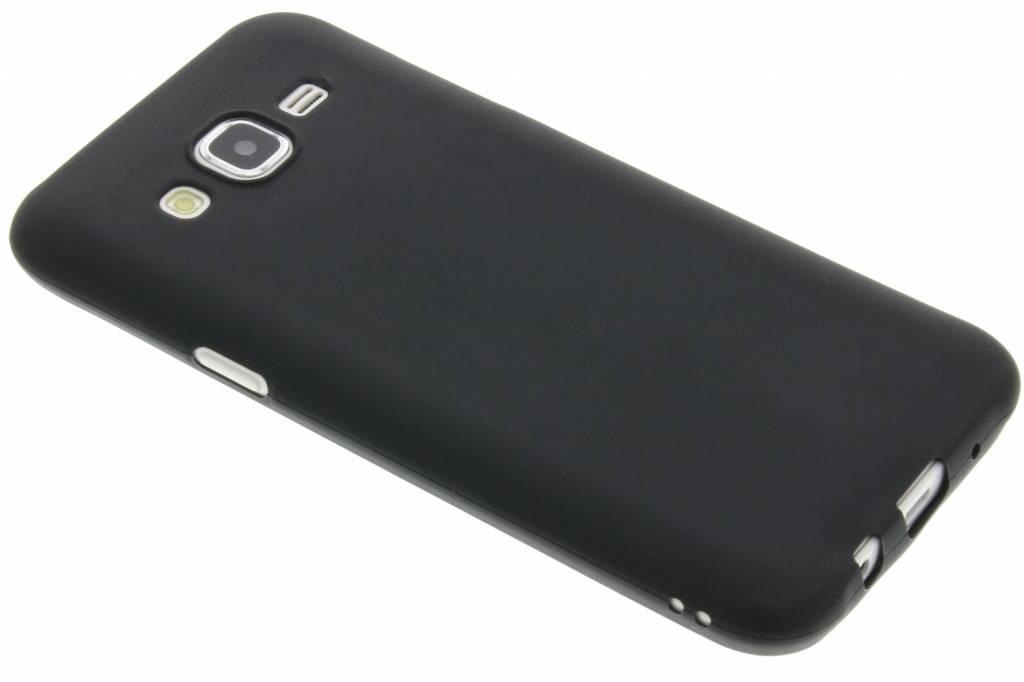 Zwart color TPU hoesje voor de Samsung Galaxy J5