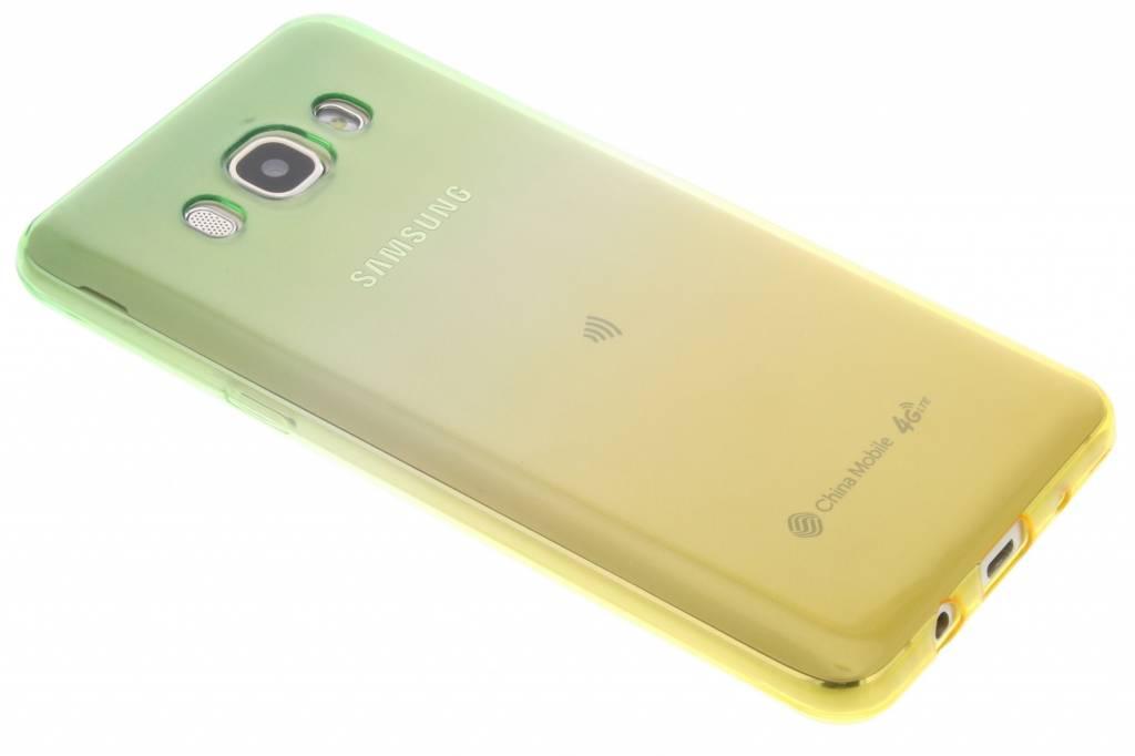 Groen / Geel tweekleurig TPU siliconen hoesje voor de Samsung Galaxy J5 (2016)