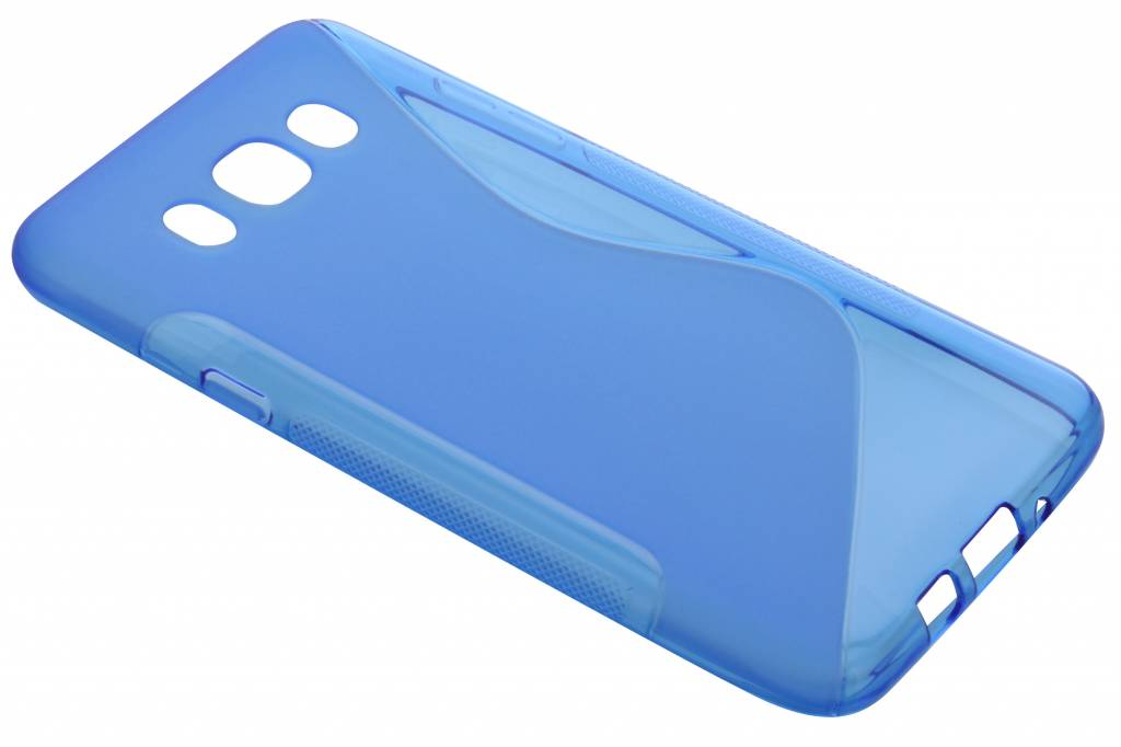 Blauw S-line TPU hoesje voor de Samsung Galaxy J7 (2016)