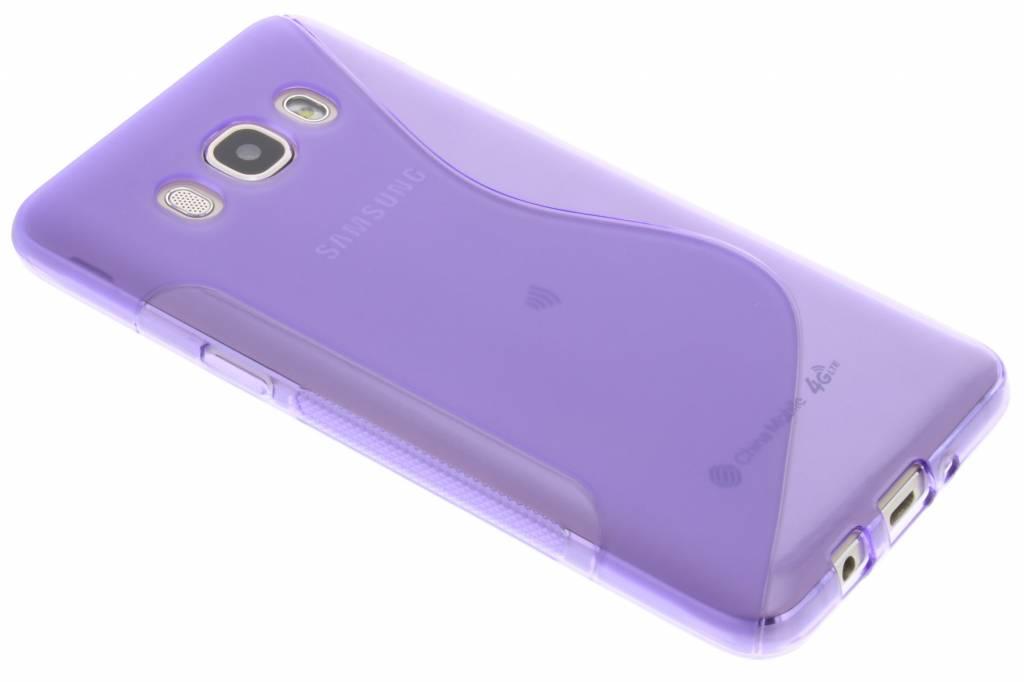 Paars S-line TPU hoesje voor de Samsung Galaxy J5 (2016)