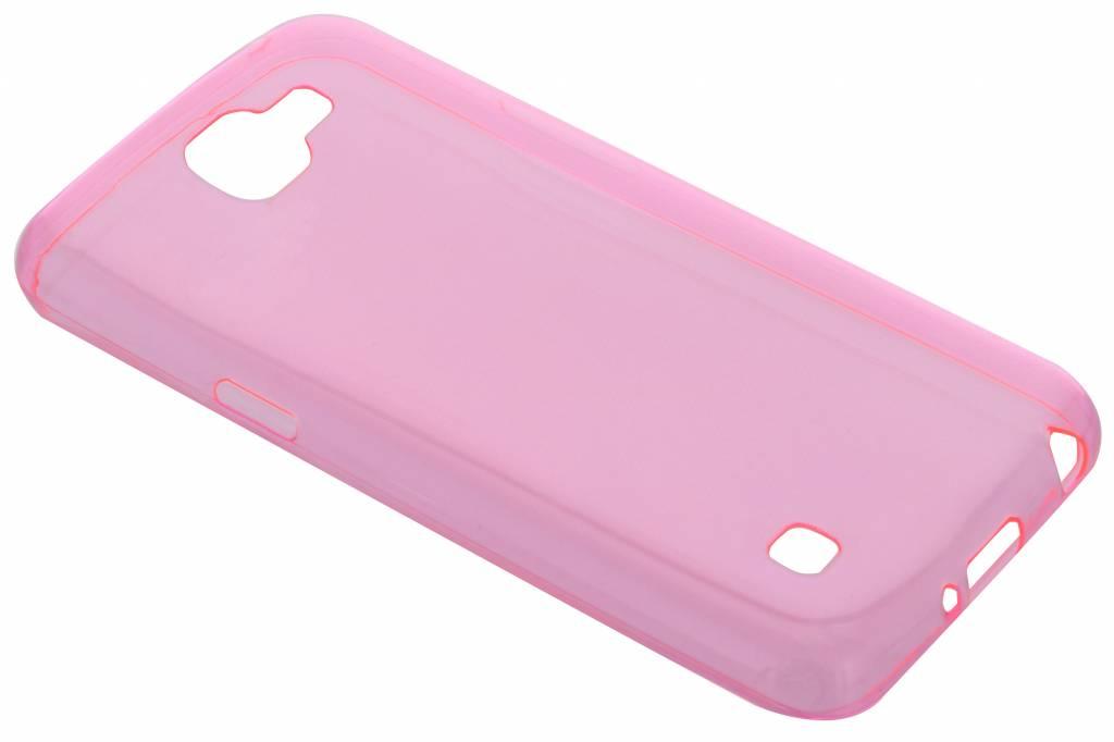 Roze ultra thin transparant TPU hoesje voor de LG K4