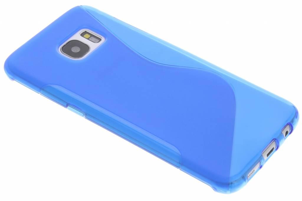 Blauw S-line TPU hoesje voor de Samsung Galaxy S7 Edge