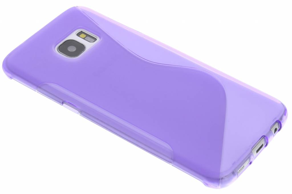 Paars S-line TPU hoesje voor de Samsung Galaxy S7 Edge