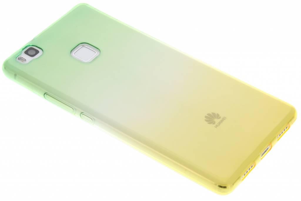 Groen/geel tweekleurig TPU siliconen hoesje voor de Huawei P9 Lite