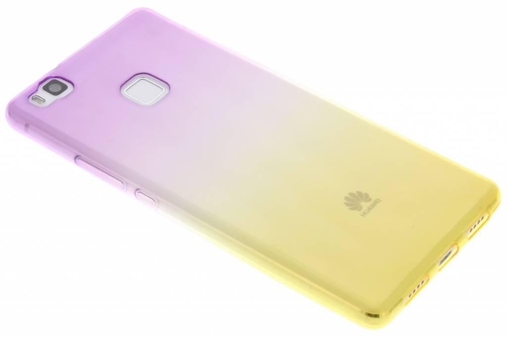 Paars/geel tweekleurig TPU siliconen hoesje voor de Huawei P9 Lite
