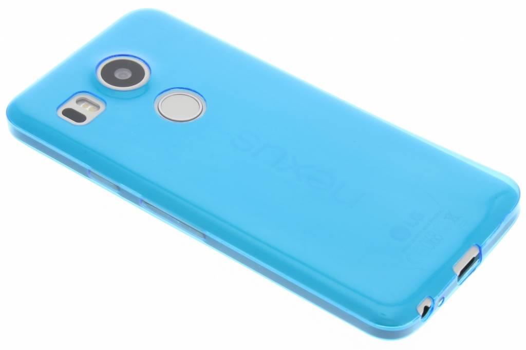 Blauwe ultra thin transparant TPU hoesje voor de LG Nexus 5X